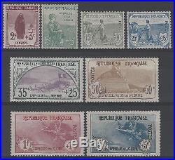 FRANCE Y&T 148 /155 SERIE ORPHELINS 1917-1918 NEUFS xx SUP VALEUR11250 K553