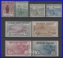 FRANCE Y&T 148 /155 SERIE ORPHELINS 1917-1918 NEUFS xx TTB VALEUR+9000 K551