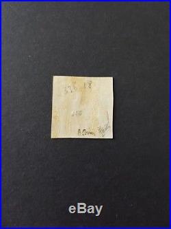 FRANCE collection Cérès #43 timbre n°3a noir sur blanc bord de feuille signé 2