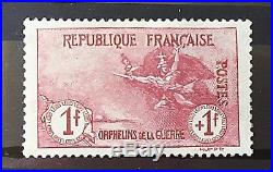 France 1917-18 Orphelins Y&T N° 154++ TTBE TBC Signé