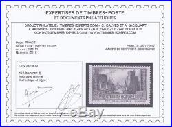 France 1929/31. N°261b 10fr Brun Noir Neuf X Tb. Cert. Calves 5250 A309