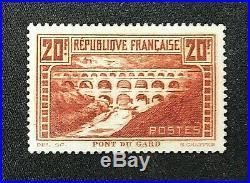 France 1929 Le Pont du Gard Y&T # 262 Neuf Sans Charnière Signé