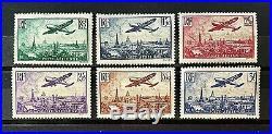 France 1936 Survol de Paris Y&T N°s 8 à 13 Neufs Sans Charnière