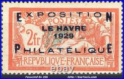 France Expo Phila Du Havre N° 257a Neuf Avec Charniere Signé Calves A Voir
