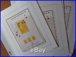 France F4662A-F4662Q 15 feuilles numérotés Maxi Marianne. Rare! Sur pages Davo