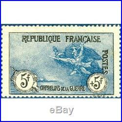 France N°155 Orphelins De La Guerre 1917, Timbre Neuf Avec Charnière