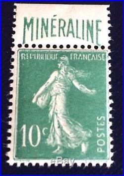 France N° 188a 10c Vert Mineraline Neuf Très Frais Et TB Choix Côté 725