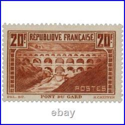 France N°262 Pont Du Gard, Timbre Neuf-1929