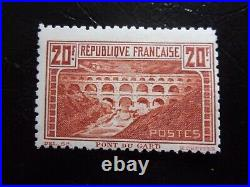 France N° 262b Dentele 11 Pont Du Gard Neuf Gomme Sans Charniere Ni Trace Signe