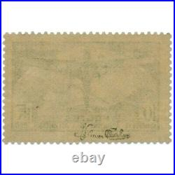France N°321 Traversée Atlantique-sud, Timbre Neuf Double Signature-1936