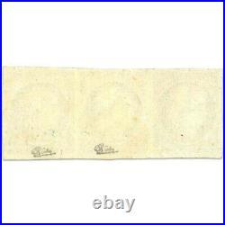 France N°3 Type Cérès, Bande De Timbres Neufs, Signés, Rare-1849