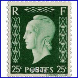 France N°701a À 701f Série Type Marianne De Dulac, Signés, Timbres Neufs1942