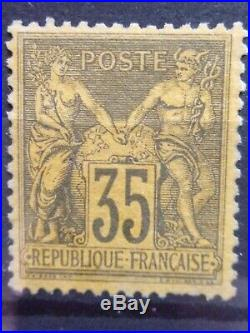 France N° 93 Type Sage Neuf Gomme Sans Charniere Ni Trace Tres Bon Centrage