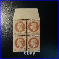 France Napoléon N°26b Bloc De 4 Bdf Neuf Luxe Mnh Gomme D'origine Cote 1350