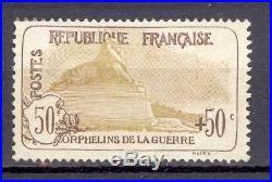 France Orphélins de la guerre. Yvert 153. Cote 1000 euros