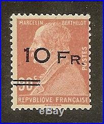 France Pa3 Berthelot 1928neuf Ttb, Valeur4750