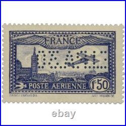 France Pa N°6c Avion Survolant Marseille, Timbre Perforé, Neuf-1930