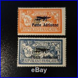 France Poste Aérienne Pa N°1/2 Neuf Luxe Gomme D'origine Mnh Cote 950