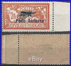 France Poste Aérienne Pa N°1 Bord De Feuille Signé Brun Neuf Mnh Cote 475