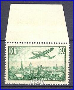 France Poste Aérienne, Yvert 14, sans charnière. Luxe! Cote 2.000 euros