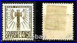 France SERVICE Rare SERIE N° 1/15 (sauf 5 & 13) de 1943. Neufs/. Cote 1000