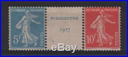 France Stamp Timbre 241/42 Semeuse 5f+10f Strasbourg 1927 Neufs A Voir T295