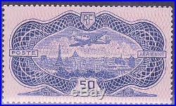 France Stamp Timbre Poste Aerienne 15 50f Burele Rose Neuf Luxe Valeur1500