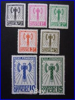 France Timbres De Service N° 5/6/9/10/11/13 Et 14 Neufs Sans Charniere Ni Trace