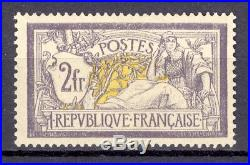 France Yvert 122 2f. Violet et jaune. Bonne centrage! Cote 2500 euros