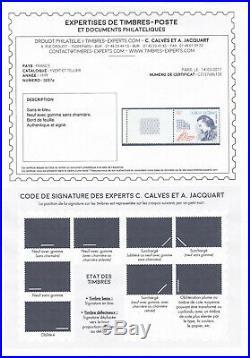 France, superbe variété n° 3268a bleue absent neuf luxe signé cote 1000,00