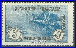 France, timbre 155, 5F + 5F Orphelins neuf, TB, signé Calves