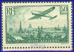 France, timbre Poste Aérienne N 14b neuf, TB, signé Calves et Brun
