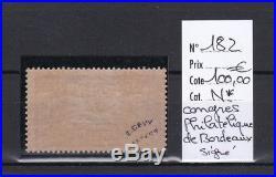 France, très beau Congrès Philatélique de Bordeaux n° 182, neuf cote 575,00