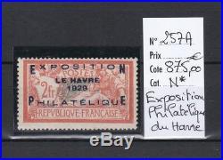 France très beau Expo. Philathélique du Havre n° 257A neuf signé cote 875,00