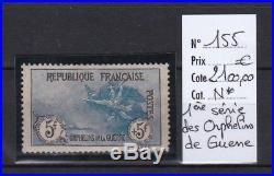France, très beau orphelin n° 155 centrage correct, neuf cote 2100,00