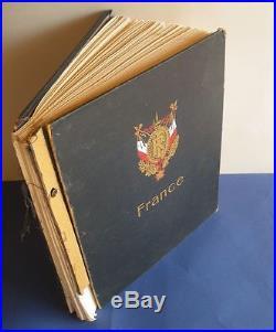 Francecollection De Timbres Neufs/obliteres 1900-1959 Feuilles Album A Etudier