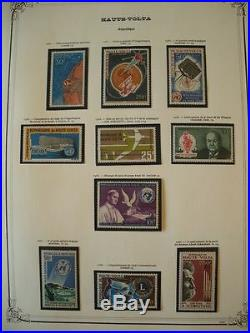 HAUTE VOLTA COLLECTION TIMBRES NEUFS xx 1966-1976 FEUILLES YVERT ET TELLIER