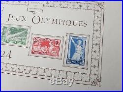 Jeux Olympiques Olympics #23 épreuve collective proof Paris 1924 183/186 t. 135