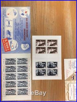 LES 32 PREMIERS CARNETS CROIX ROUGE DE 1952 a 1983 ET LUXE