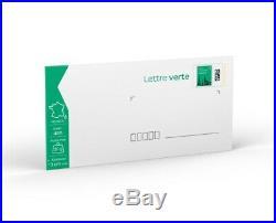 LOT 200 Lettres Vertes Prêt-à-Poster (NEUF)