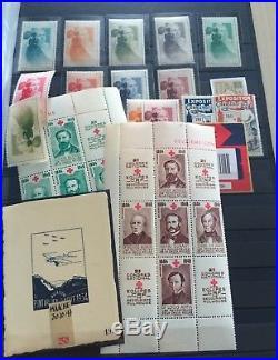 LOT #262 FRANCE MONDE albums timbres vignettes en albums GIGA cote + 800 photos