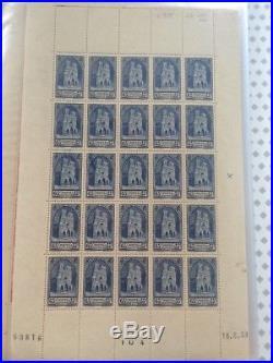 LOT #284 FRANCE collection timbres en feuilles et planches MNH énorme cote