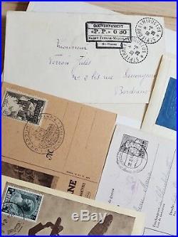 LOT #67 FRANCE ITALIE MONACO SUISSE collection timbres lettres dt Bordeaux n°44