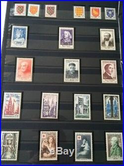 LOT #74 FRANCE collection timbres classiques fins catalogue + 3 albums dt Yvert