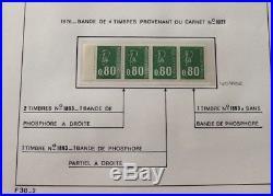 LOT #75 FRANCE timbres Decaris Béquet Sabine Liberté ++ variétés dont phosphore
