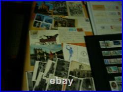 LOT (valeur + 800) TIMBRES FRANCE, ETRANGER, ALBUM, VRAC, FLAMMES, LETTRES