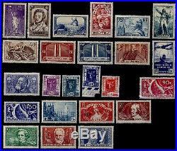 L'ANNÉE 1936 (sauf 321), Neufs = Cote 555 / Lot Timbres France 309 à 333