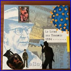 Livre de l'année LA POSTE 1994 avec tout les timbres