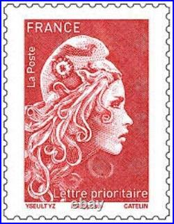 Lot 100 timbres à validité permanente lettre prioritaire 20 g