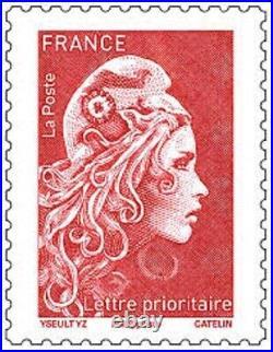 Lot 3000 timbres à validité permanente lettre prioritaire 20 g
